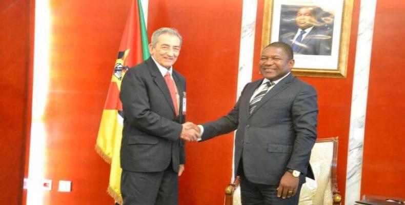 Presidente de Mozambique recibe a delegación del PCC. Foto: ACN.