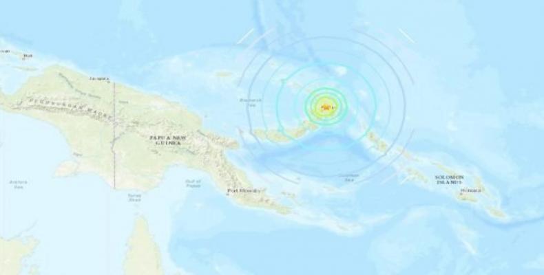 Epicentro del terremoto. Foto: earthquake.usgs.gov.