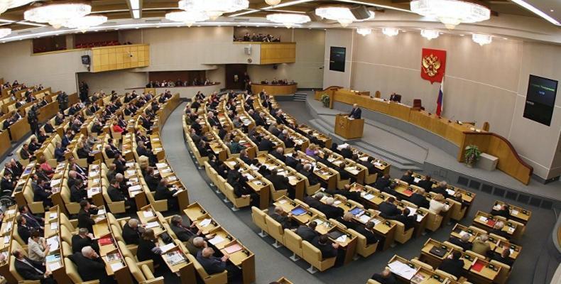 Duma Estatal Rusa. Foto tomada de Internet