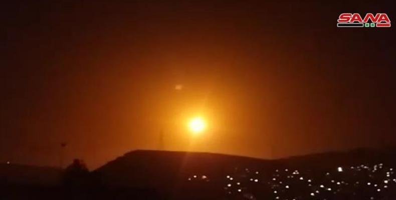 Syria's air defense intercepted several Israeli missiles over the capital of Damascus. (Photo: SANA)