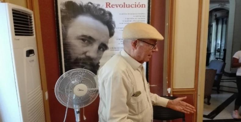 Martínez Pírez recordó pasajes de la historia de la Televisión Cubana. Fotos: Lorenzo Oquendo
