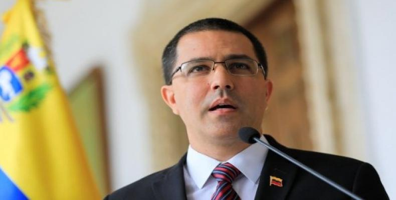 Foreign Minister Jorge Arreaza at a news conference in Caracas.  August 30, 2019.  (Photo: Reuters)