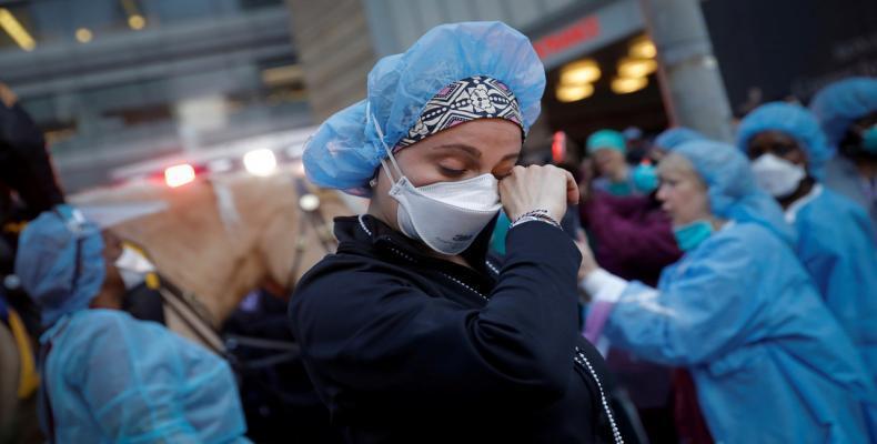 Una enfermera en la ciudad de Nueva York, EE.UU. el 16 de abril de 2020.Mike Segar / Reuters