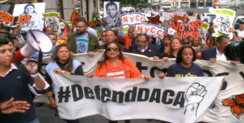 U.S. federal judge rules DACA must continue.  Photo: Democracy Now