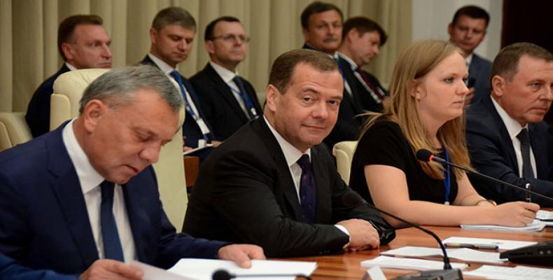 Medvedev dijo que no todos vieron con buenos ojos el diálogo equitativo entre Rusia y Cuba. Fotos: Modesto Gutiérrez Cabo