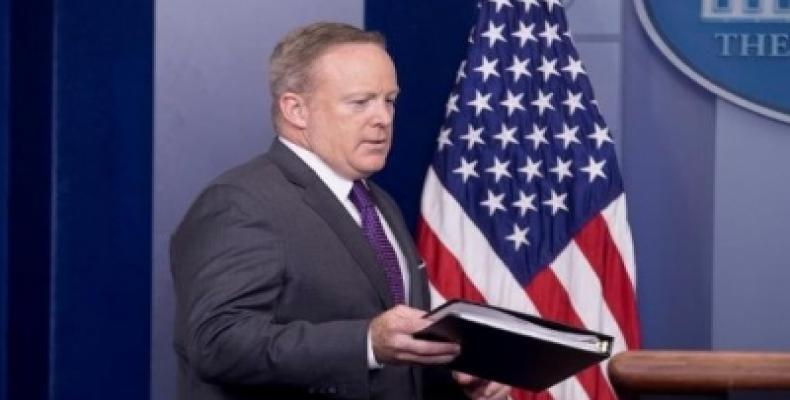 Sean Spicer. Foto tomada de Cubasí