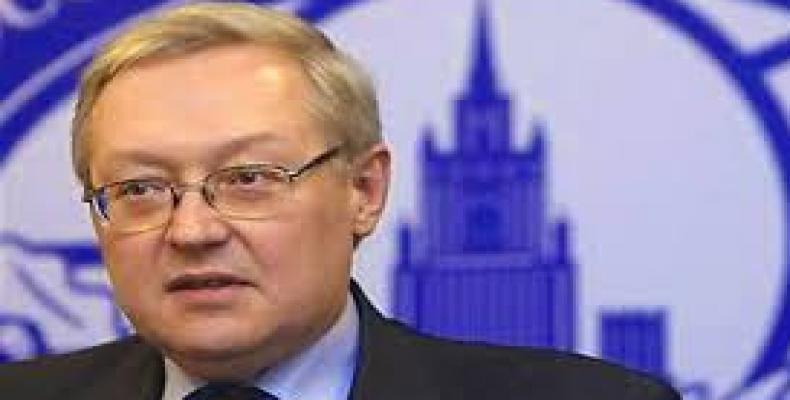 Serguei Riabkov recuerda a los norteamericanos que la política de sanciones nunca alcanza los resultados esperados. Foto: Internet