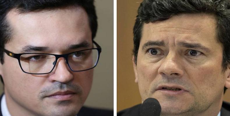 Flavio Bolsonaro y Sergio Moro
