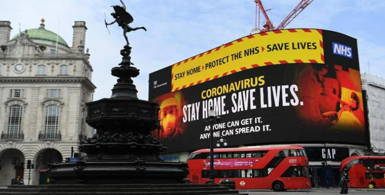 UK government has stepped up public health campaigns as the coronavirus spreads. (Photo: Andy Rain/EPA)