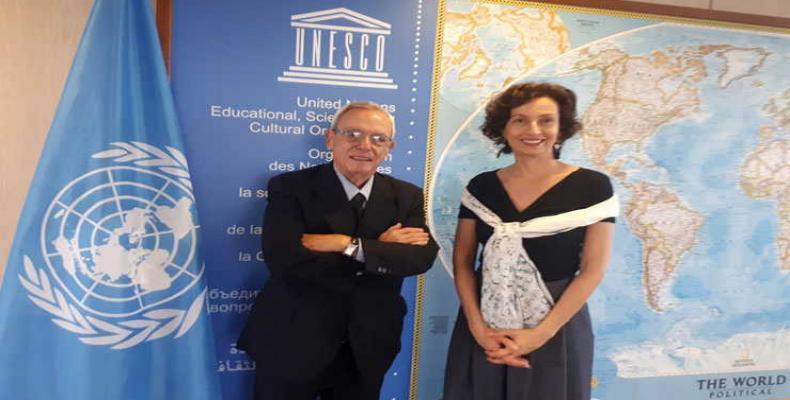 Ambas partes resaltaron la contribución de la Unesco a la paz. Foto tomada de la ACN
