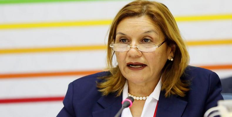 Cuba's Minister of Science, Technology and the Environment, Elba Rosa Pérez