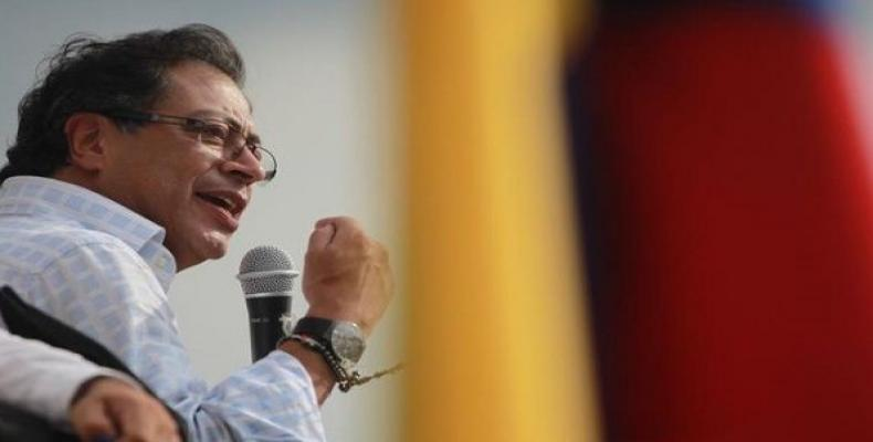 Colombian presidential candidate Gustavo Petro.  Photo: EFE