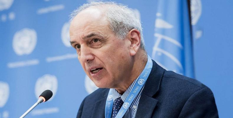 Michael Lynk, the UN special rapporteur on the situation of human rights in the Palestinian territories. (Photo: Press TV)