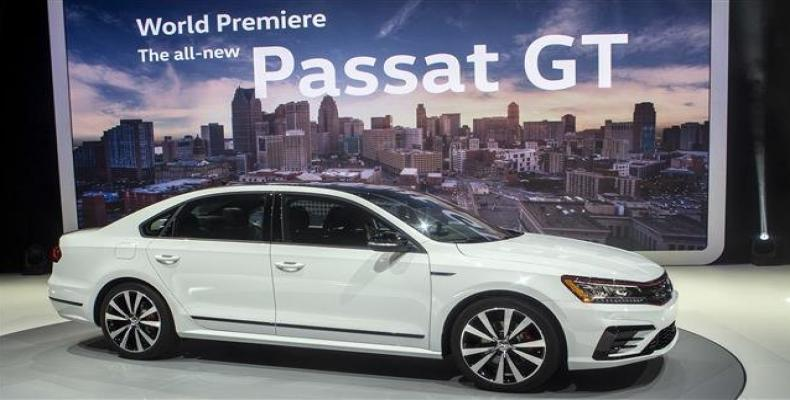 The new Volkswagen Passat GT sedan is presented at the North American International Auto Show, Monday, Jan. 15, 2018, in Detroit.  Photo: AP