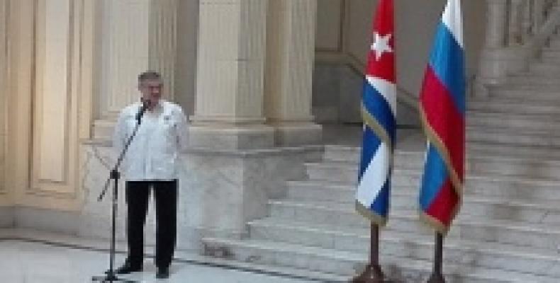 Mijail Kaminin, embajador de Rusia en Cuba./Imagen:Lorenzo Oquendo(RHC)