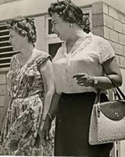 Haydée (I) y Melba (D) participaban en reuniones, entrevistas, elaboraban planos, guardaban armas, confeccionaban uniformes... Foto: Archivo