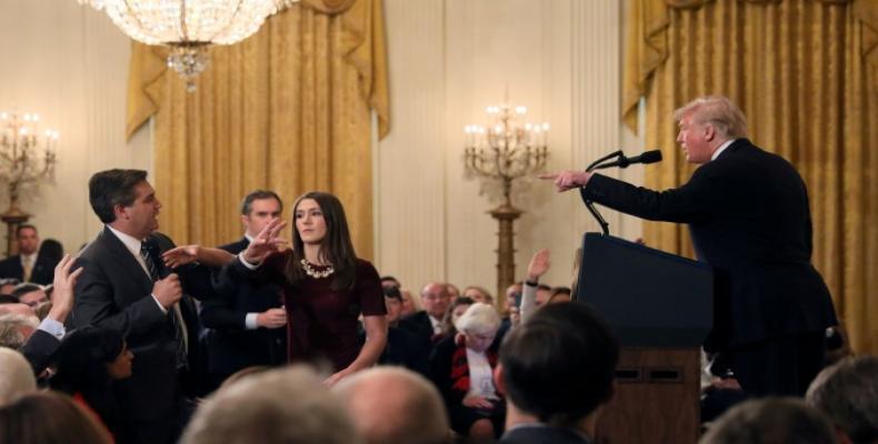 White House threatens to revoke credentials of CNN's Jim Acosta again.  Photo: CNN