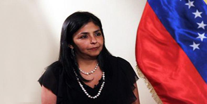 Ministra de Relaciones Exteriores de Venezuela, Delcy Rodríguez,