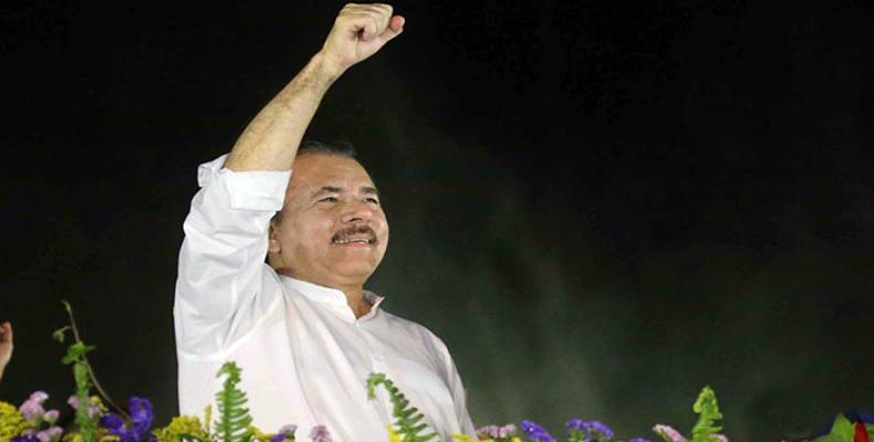 presidente reelecto de Nicaragua, Daniel Ortega