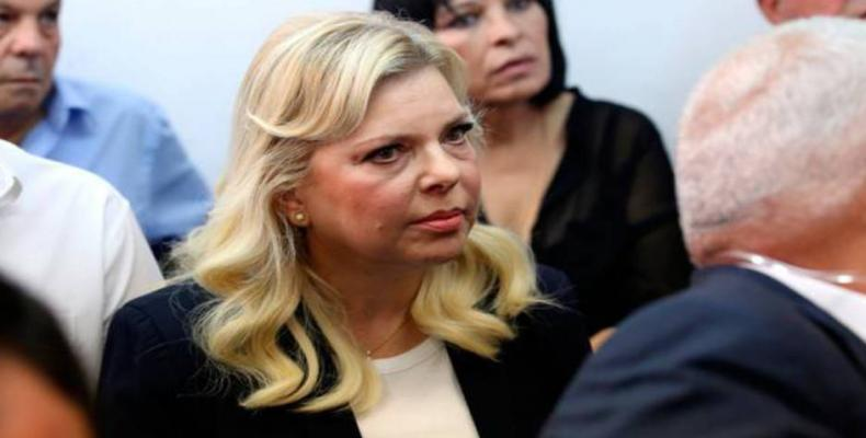 Wife of Israeli prime minister, Sara Netanyahu, on trial for fraud.  Photo: Press TV