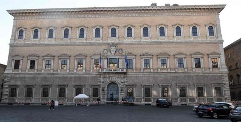 The Palazzo Farnese, headquarters of the French Embassy in Rome, is pictured in this photo.  Photo: AFP