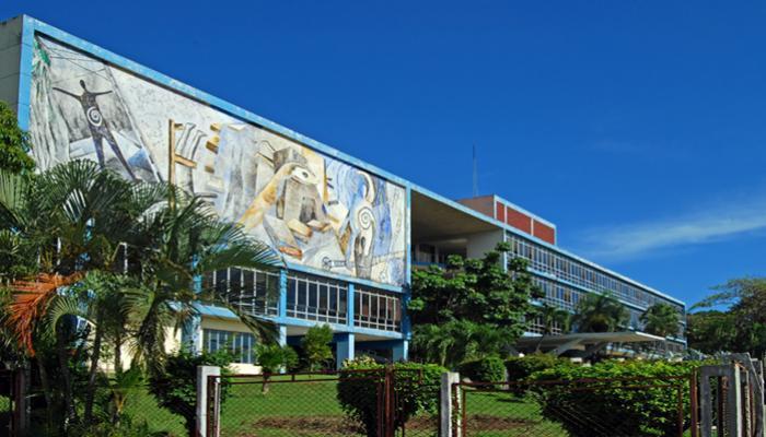 En el recinto universitario el legado del Comandante en Jefe es permanente. Foto: Archivo