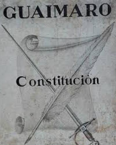 The 1869 Constitution of Guáimaro established the Republic of Cuba in Arms