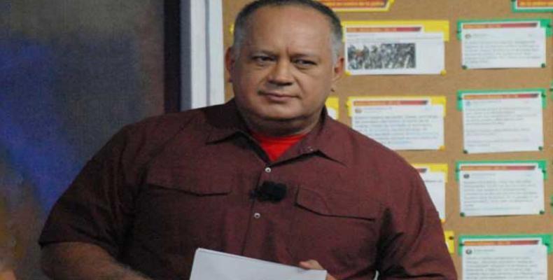 Diosdado Cabello, presidente de la Asamblea Nacional Constituyente de Venezuela