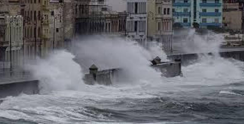 Así está el Malecón en La Habana