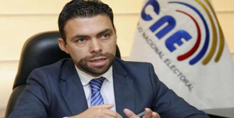 Juan Pablo Pozo, presidente CNE ecuatoriano