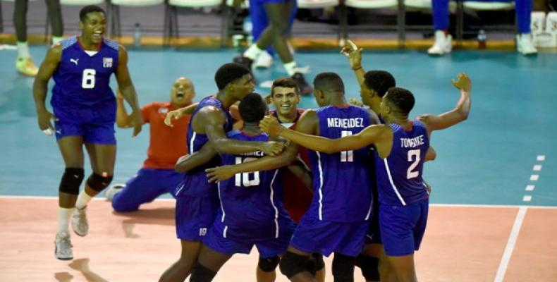 L'équipe cubaine de volley U-19 a récemment remporté le tournoi de la NORCECA