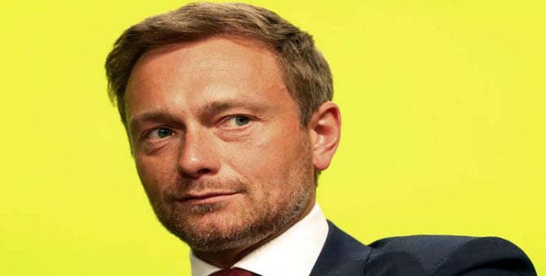 Chrstian Lindner, líder liberal alemán