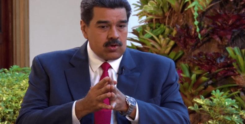 Venezuelan President Nicolas Maduro during interview with Xinhua (Photo: Xinhua)