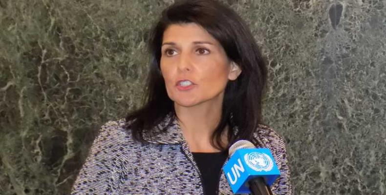 Nikki Haley, representante permanente de Estados Unidos ante la ONU. Imagen de archivo
