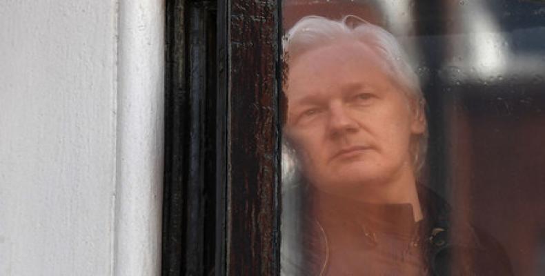 Julian Assange in danger of being extradited to U.S.  Photo: teleSUR