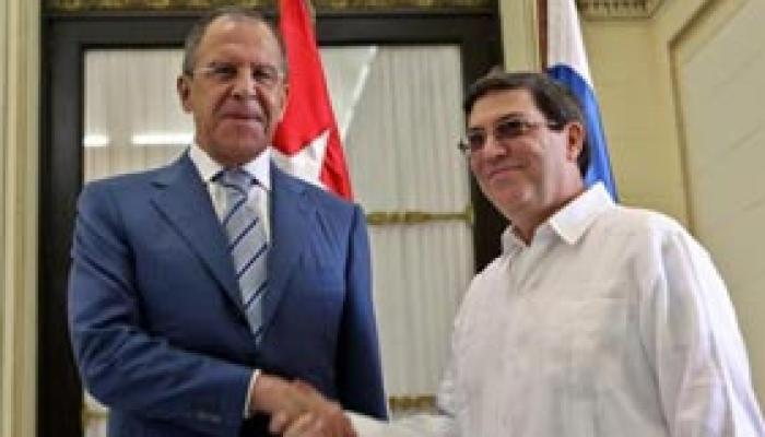 Bruno Rodríguez kaj Serguéi Lavrov
