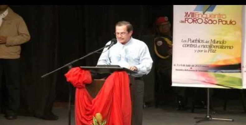Former Ecuadorian foreign minister Ricardo Patiño. Photo: Youtube