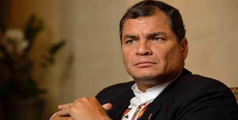 Le président Rafael Correa, photo des archives