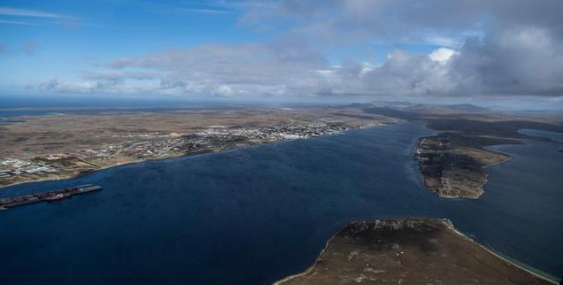 General view of Port Stanley, Las Malvinas, in the South Atlantic Ocean. (Photo: AFP)