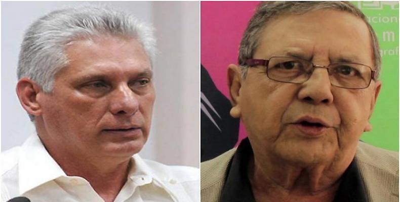 En su cuenta en Twuitter, el presidente de Cuba lamentó el deceso del cineasta, poeta y ensayista venezolano Edmundo Aray.Imágen:Internet.: