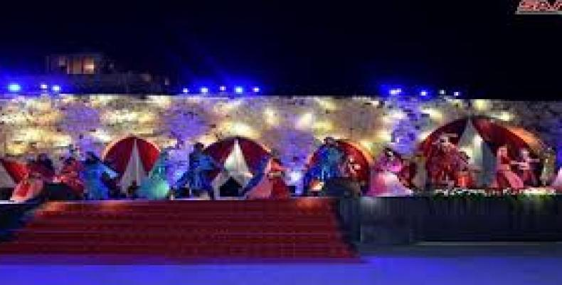 Actividades turísticas, artísticas y culturales en el Festival de Primavera en la provincia de Hama. Foto/www.sana.sy