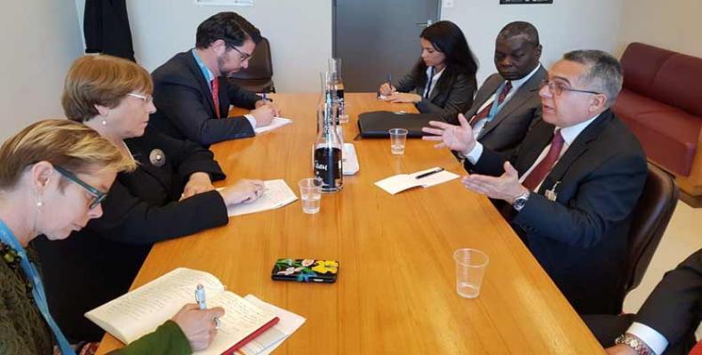 Marcelino Moreno meets Michelle Bachelet in Geneva