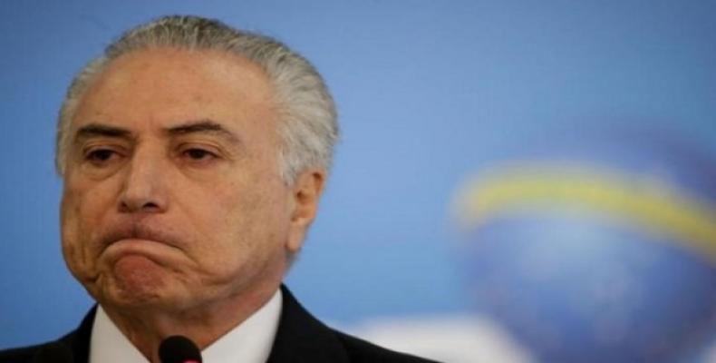 Presidente provisional de Brasil, Michel Temer,