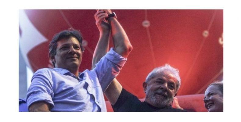 Lula junto a Fernando Haddad, hasta el momento su compañero de fórmula para las presidenciales. Foto/Cubadebate