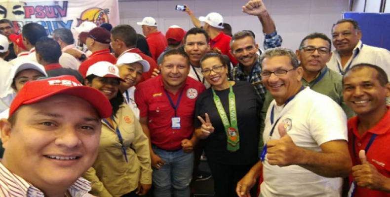 Participants of the 1st International Meeting in Caracas. (Photo: @PartidoPSUV)