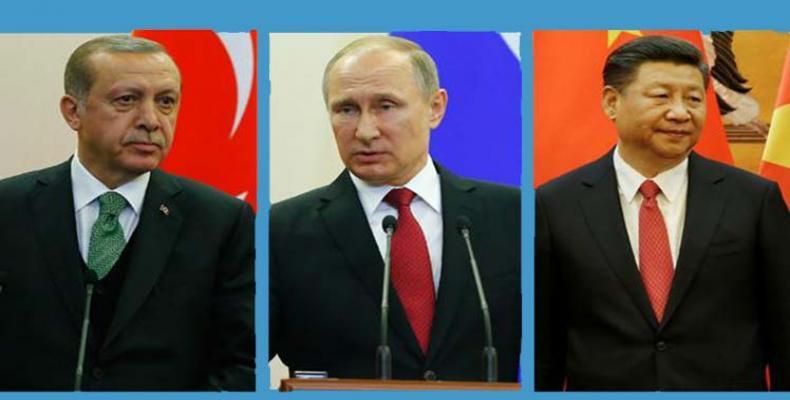 Erdogan, Putin y Xi Jingping