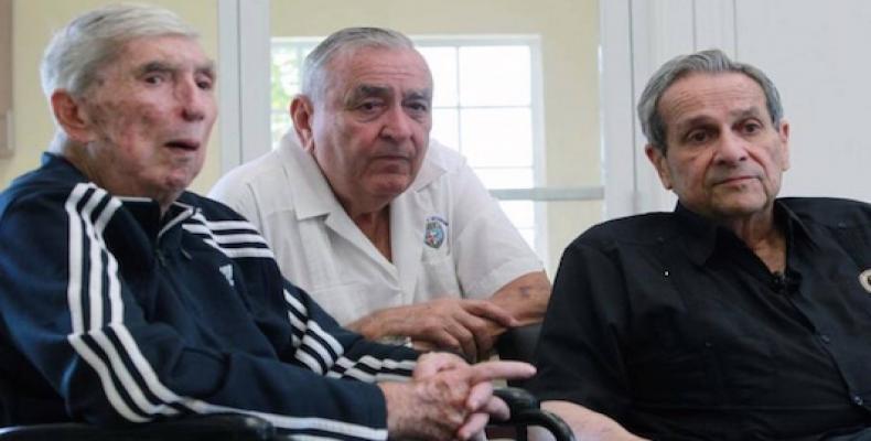 Los terroristas anticubanos Posada Carriles, Esteban Novo y Félix Rodríguez