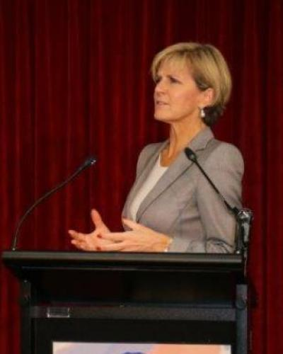 Australia's Minister for Foreign Affairs Julie Bishop