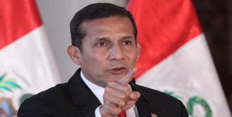Presidente de Perú, Ollanta Humala.