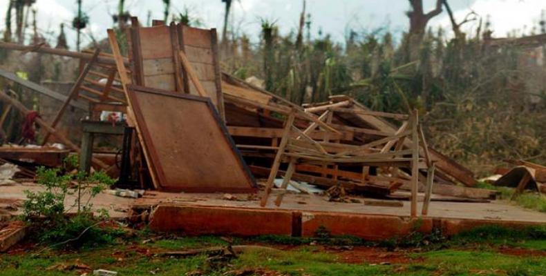 Destrucción de viviendas en Maisí
